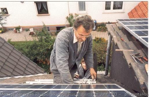 Beim Bau der Photovoltaikanlage im Jahr 1993 war die ganze Familie im Einsatz