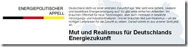 Einflussnahme zur Forcierung der Laufzeitverlängerung: energiepolitischer Appell von 40 Managern, August 2010