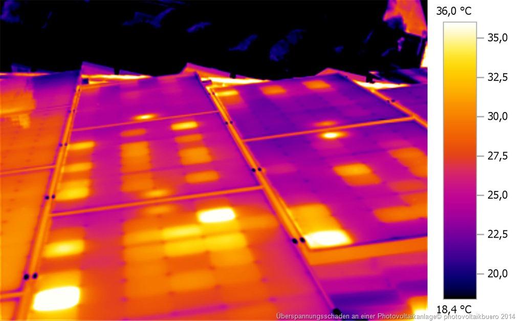 typischer Ueberspannungsschaden an einer Solarstromanlage 2