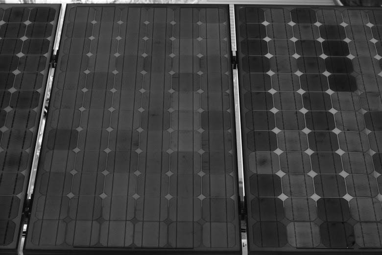 Elektrolumineszenz-Aufnahme: Dunkle Solarzellen in der Nähe des Modulrahmens deuten auf PID hin
