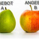 der Vergleich von PV-Angeboten ist oft der Vergleich zwischen Äpfeln und Birnen