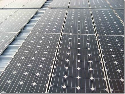 Photovoltaikanlage nach der Reinigung
