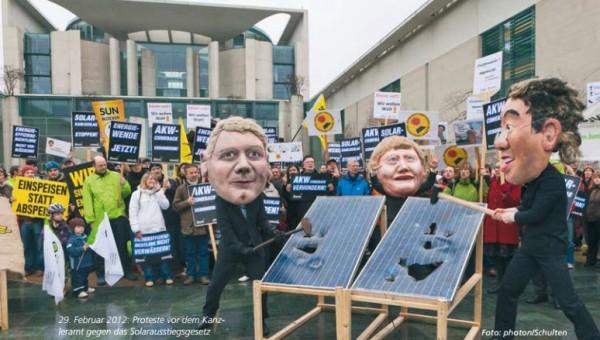 statt Atomausstieg jetzt Solarausstieg? Quelle: robinwood, photon
